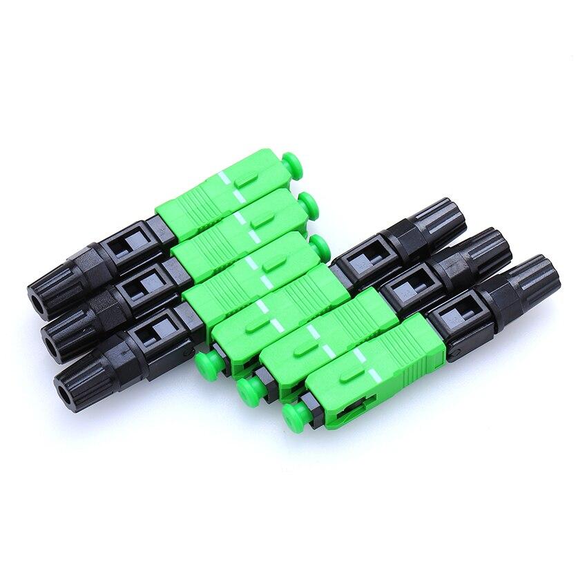 100PCS Lot 0 3dB FTTH Fiber Optic Quick Connector FTTH SC APC SM Fast Connector for