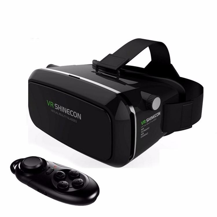 משקפי מציאות מדומה עם שלט
