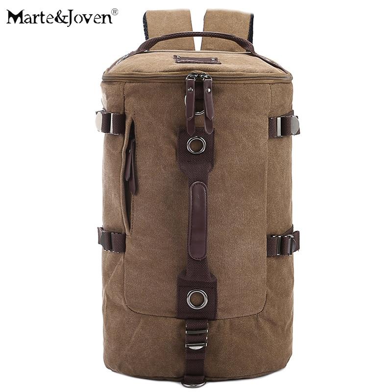 2017 New Design Multi-function Canvas Best Travel Backpack Bags for Men High Quality Large Capacity Black Laptop Travel Rucksack