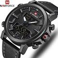 NAVIFORCE Top Luxus Marke Military Quarz Herren Uhren LED Datum Analog Digital Uhr Männer Mode Sport Uhr Relogio Masculino|Quarz-Uhren|Uhren -