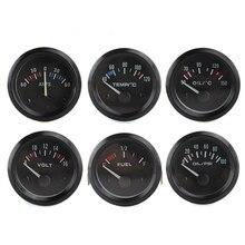Envío libre!!! 52 MM prensa de aceite gauge volt meter temp aceite indicador temp agua indicador De Combustible medidor de AMPERIOS metro del coche gauge auto