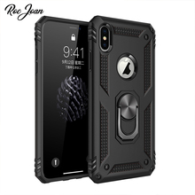 Roc Joan Finger Ring Amor Case For Apple iPhone XS Max X XR 8 7 6 6S Plus Stand Cover Full Protection PC and Soft TPU Back Coque roc max resurfacing