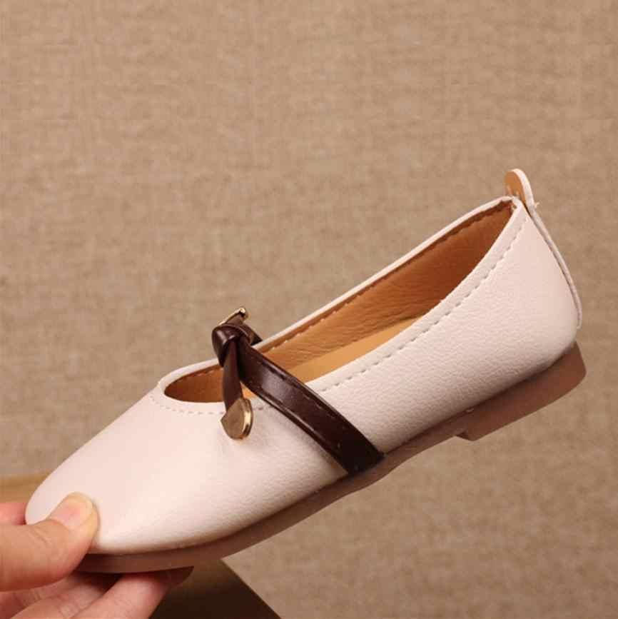 MUQGEW 2018 Neue Stil Kinder Kinder Feste Krawatte Leder Gelee Schuhe für kleinkinder mädchen Flach Prinzessin Einzelnen Sansals Schuhe # XTN