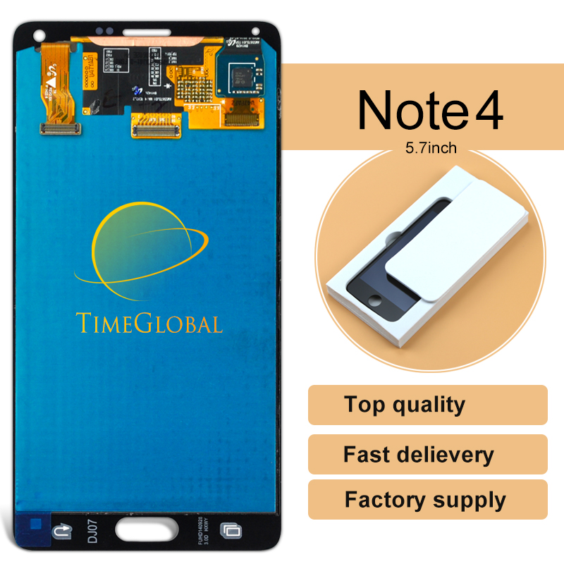 1pcs Replacement Original for Samsung Note 4 LCD display touch screen Digitizer for galaxy N910F N910A N910P N910T freeshipping 100% brand new lcd digitizer touch screen display assembly for samsung galaxy note 4 n910 n910a n910v n910p n910t black or white