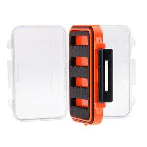 Image 2 - مزدوج الوجهين مقاوم للماء يطير صندوق معالجة الصيد شق رغوة يطير الصيد هوك الرقص حقيبة للتخزين 4.5x2.8x1.6 بوصة