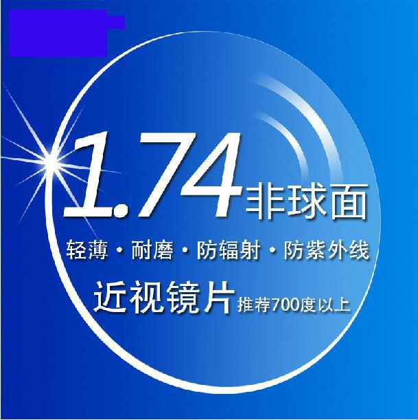 1.74 Asférica Duro Anti Raspe Limpar Lentes de Prescrição Óptica Lente Para Os Olhos Miopia lentes De Leitura em forma LIVRE