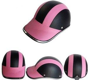 Image 5 - Unisex Motorcycle Half Face Helmet Bike Cycling Helmet casco Protective ABS Leather Baseball Cap gorras de beisbol