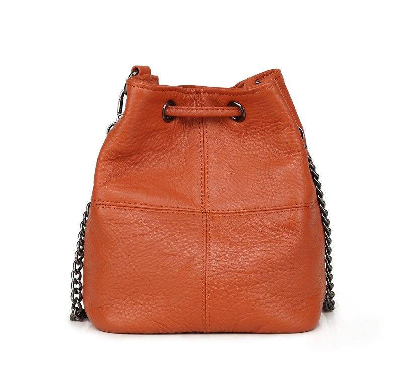 MJ Genuine Leather Women Bag Chain Crossbody Handbag Female Real Cow Leather Bucket Shoulder Bags Small Messenger Bag for Girls (6)
