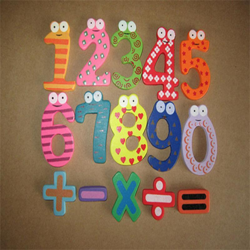 Magnetic Wooden Numbers Math Set Digital Baby Educational Toy free shipping /