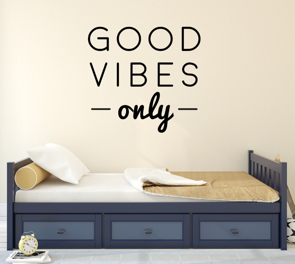 Baby Bedroom Wall Poster Good Vibes Only Quote Children