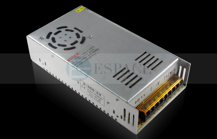 10piece/lot 360W 24V 15A Switching Power Supply Driver for LED Strip AC 100-240V Input to DC 24V good quality цена 2017