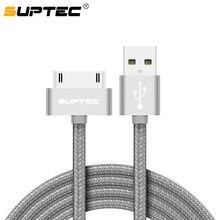 7fe8b054e91 SUPTEC Cable USB para iPhone 4 s 4S 3GS iPad 2 3 iPod Nano touch rápido de  carga de 30 pines Original cable de datos del cargado.