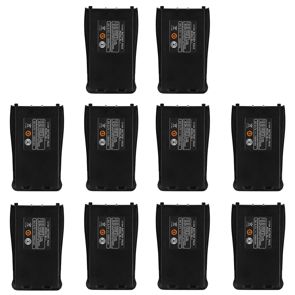 10Pcs Baofeng BF-888S 3.7V 1500mah Li-ion Spare Battery For Baofeng Bf-888S Retevis H-777 H777 Two Way Radio Walkie Talkie