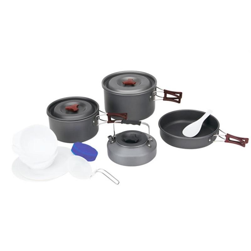 все цены на Fire-Maple Outdoor Travel 4Pcs/Set Mesh Bag Storage 4-5 People Camping Cookware Frying Pan/Coffee Maker Bowl онлайн