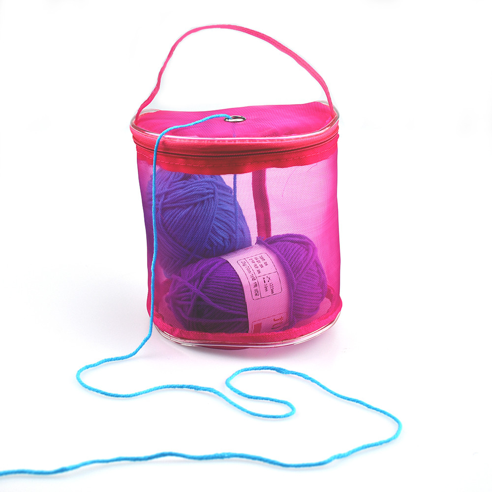 Yarn Wool Storage Bag Mesh Tote Knitting Yarn Holder Bag Random Color
