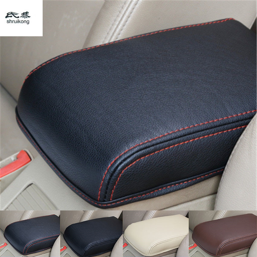 Free shipping high quality 1pc for 2015-2018 SKODA Octavia A7 PU leather car accessories armrest box protection cover