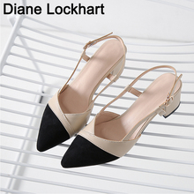 Sandália feminina, salto alto preto bege calçado feminino verão tamanho 32 41 42 43