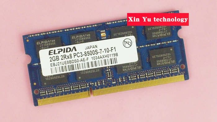 Lifetime warranty For Elpida <font><b>DDR3</b></font> 2GB <font><b>1066MHz</b></font> PC3-8500S Original authentic ddr 3 2G notebook memory Laptop RAM 204PIN SODIMM image