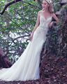 Moderna Romántica Elegancia Falda Slim Una Línea de Vestidos de Novia de Lujo Cristales Brillantes Con Cuentas Vestidos De Novias