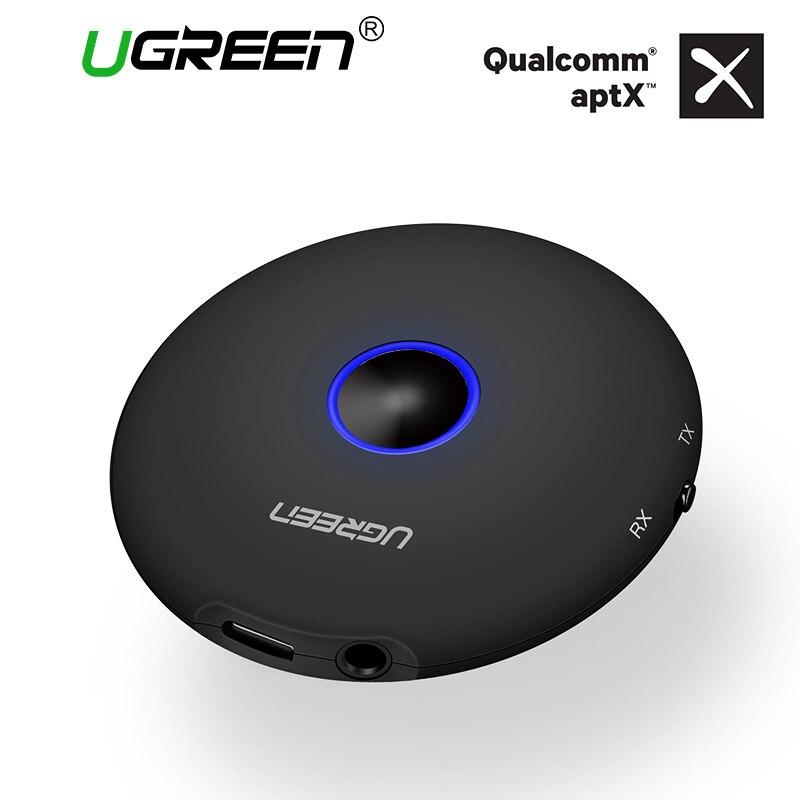 Ugreen Bluetooth Transmissor E Receptor De Áudio de 3.5mm Fones de Ouvido Alto-falantes Aptx Adaptador Bluetooth para TV Transmissor de Áudio Sem Fio