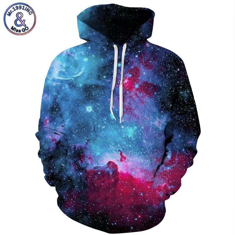 Mr.1991INC Star Sky Europe America Hot digital Print Sweatshirts With Pocket Hooded Pullovers Men Sweatshirt Hoodie Hoodies M135