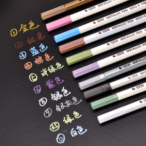 10 Colors/Set Metal Mark Pen Color Marker Graffiti Pen For Black Paper Para Metal Oil Paint Marker Sharpie Pens Chacos Drawing
