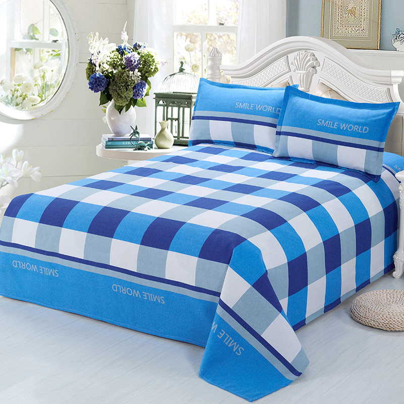 2017 new 100 cotton sheet bed king size flat sheets queen for Lit queen size taille