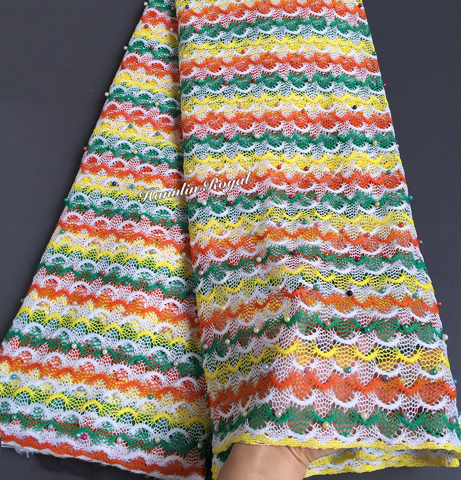 150cm on width for gown multicolored 5 yards African guipure lace cord fabric with colorful beads high quality vibrant lovely150cm on width for gown multicolored 5 yards African guipure lace cord fabric with colorful beads high quality vibrant lovely