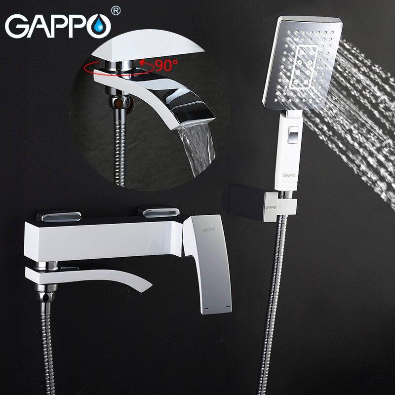 Fein Gappo Bad Regen Dusche Wasserhahn Badewanne Wasserhahn Tap Wand Badezimmer Dusche Wasserhahn Bad Waschbecken Wasserhahn Wasser Mischer Waschbecken Wasserhahn Dusche System Billigverkauf 50%