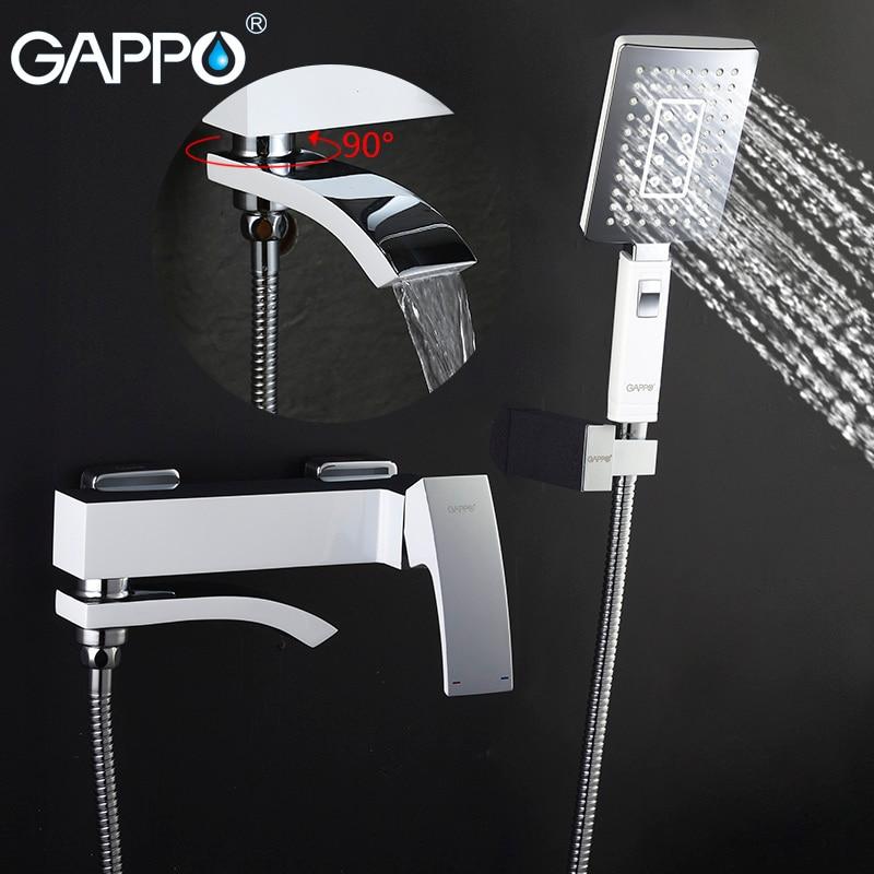 GAPPO banyo yağmur biçimli duş musluk küvet musluk dokunun duvar banyo duş musluk banyo lavabosu musluk su mikser evye musluğu duş sistemi