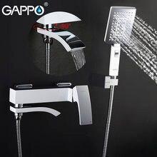 GAPPO-grifo de ducha de lluvia para baño, grifería de bañera, grifo de ducha de pared, grifo de lavabo, mezclador de agua, Sistema de ducha