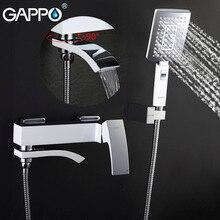 GAPPO grifo de ducha de lluvia para baño, grifo de bañera, grifo de ducha de baño de pared, grifo de lavabo, mezclador de agua, Sistema de ducha
