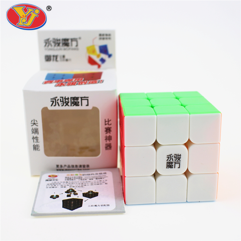 3x3x3 YJ Yongjun Magic Cube Speed ​​Cubo Square Puzzle Kiub Tiada - Teka-teki - Foto 1