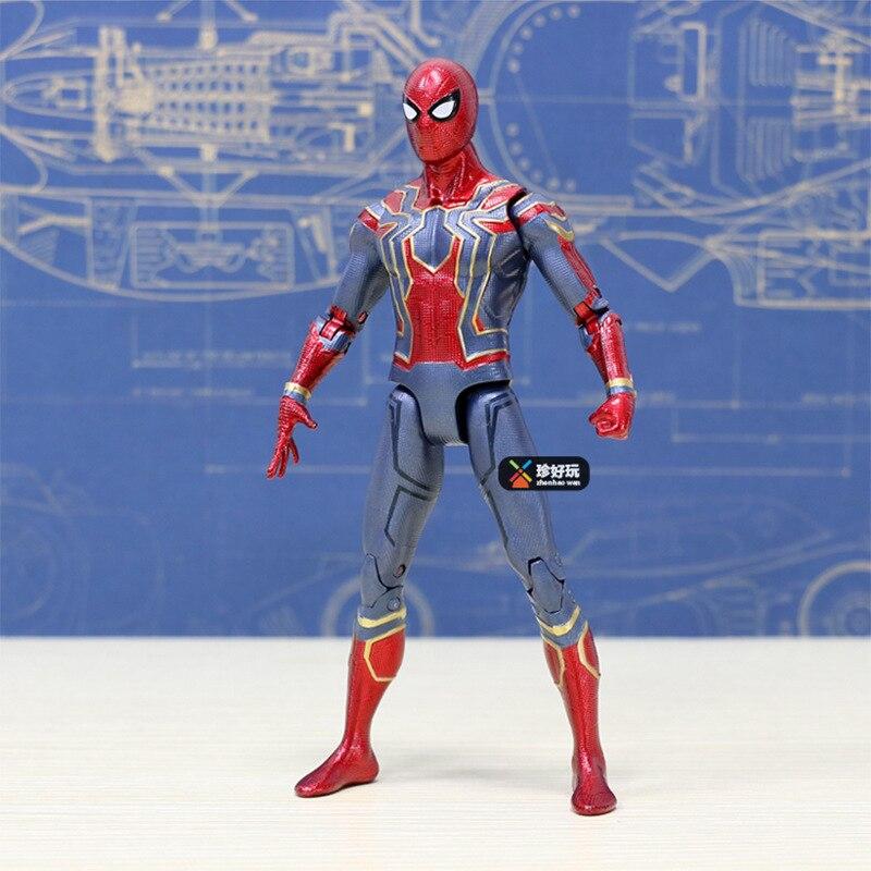 18cm Marvel Super Heroes Avengers Infinity War Spiderman PVC Action Figure Toy Spider man Toys XD323 neca marvel legends venom pvc action figure collectible model toy 7 18cm kt3137