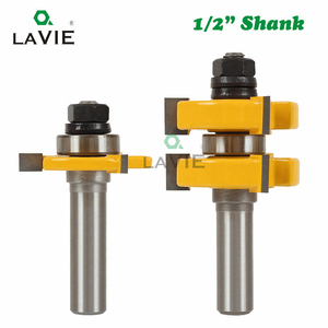 Image 2 - LAVIE 2pcs 12MM 1/2 Shank Tenon Cutter Floor Wood Bits T type Groove and Tongue Router Bit 3 Teeth Milling Cutter For Wood 03017