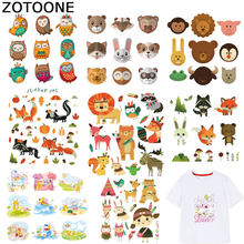 ZOTOONE Cute Stickers Animal Patches for Kids Iron on Transfers for Clothes T-shirt Heat Transfer DIY Accessory Appliques F1(China)