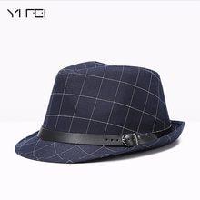 f0fb9a8a00ac5 2018 Vintage Popular Panamá capsula a estrenar moda enrejado del algodón  hombres gran ala tapa Otoño Invierno sombreros Floppy J..