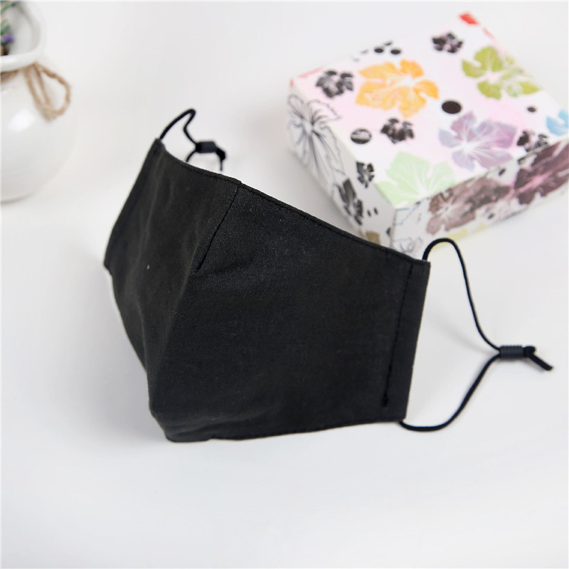 10pcs/Bags Summer New Mask Flax Solid Color Variety Of Colors Optional Dust Sunscreen Fashion Printing Breathable Masks