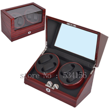 Free shipping wooden watch winder with high gloss piano paint, automatic watch winder organizer, 2016 new watch show jewelry box