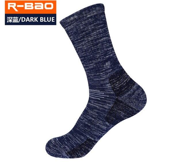 3 Pairs R-BAO RB3320 Ski Socks 85% Cotton Hiking Socks Outdoor Mens Sports Socks Spring Winter Fit to Size 39-43