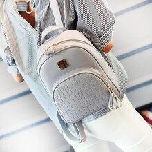 EnoPella font b women b font font b backpack b font leather school bags for teenager