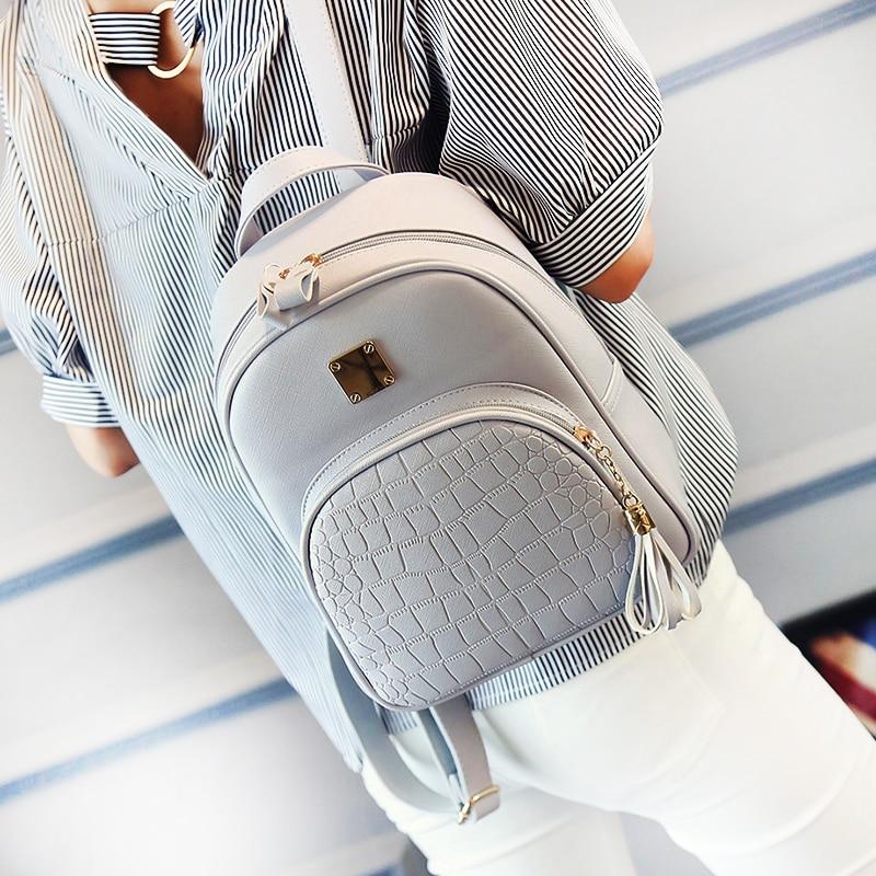 EnoPella frauen leder rucksack schultaschen für teenager mädchen stein pailletten weibliche adrette kleine rucksack