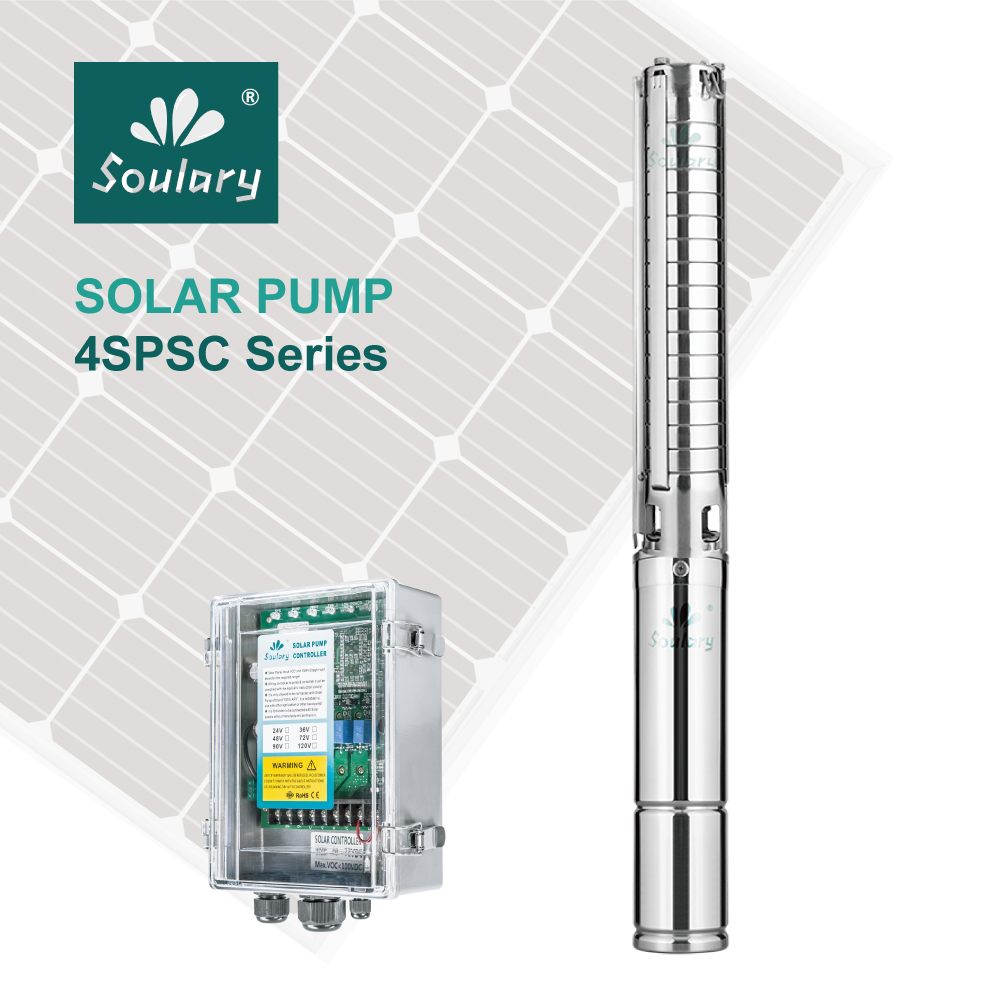 (DHL Free Shipping ) 4' Centrifugal DC Submersible Solar Pump for Irrigation ( 1000w 6 m3/h 72m | model 4SPSC6.0/72 D72/1000)
