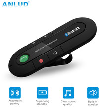 ANLUD Bluetooth Handsfree Carkit Draadloze Bluetooth Speaker Telefoon MP3 Muziekspeler Zonneklepclip Speakerphone met Car Charger(China)