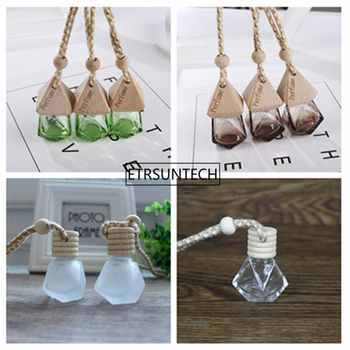 Car Perfume Bottle Car-styling for Essential Oils Perfume Pendant Hanging Glass Bottle F1825