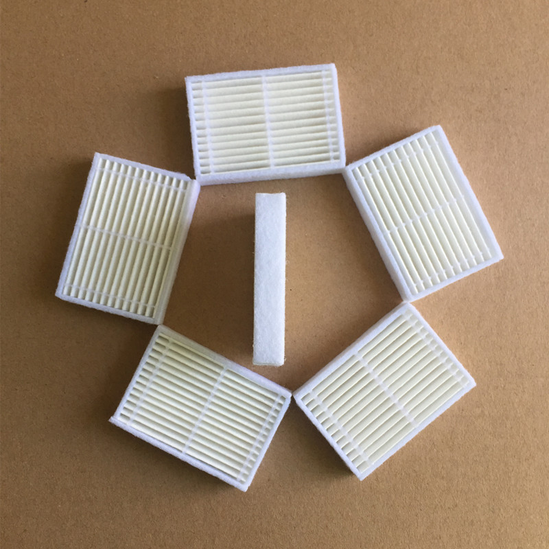 все цены на 5 pieces/lot Robotisc Vacuum Cleaner Parts HEPA Filter for Panda X600 pet Kitfort KT504 Robot Sweeper accessories онлайн