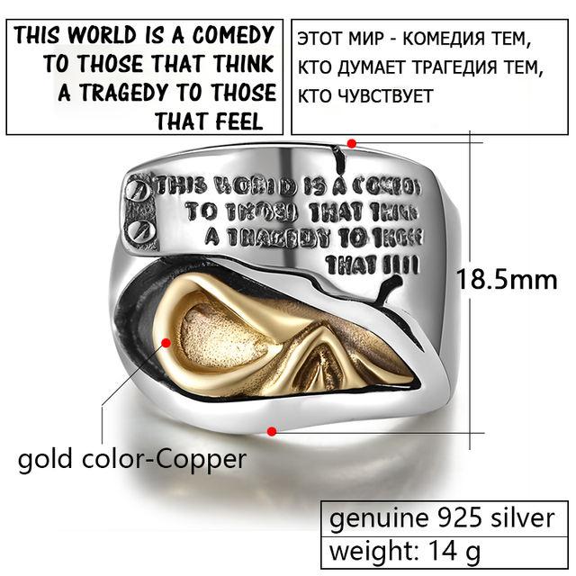 ORIGINAL 925 STERLING SILVER GOLD SKULL EYE RINGS
