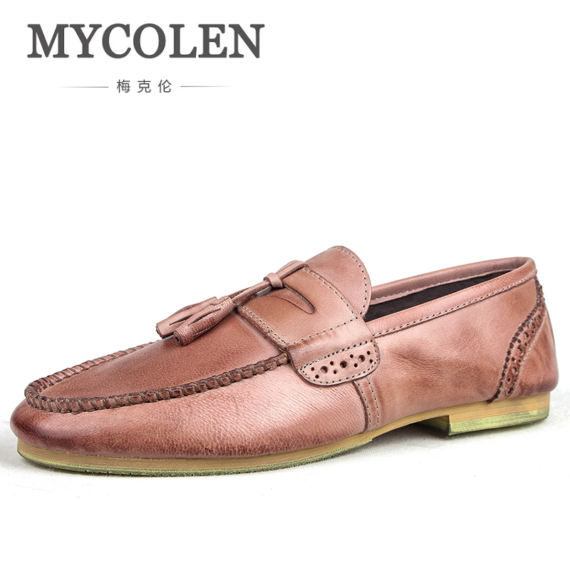 MYCOLEN 2018 Slip On Men Shoes Luxury Designers Loafers Artificial Leather Comfortable Shoes Men Shoes For Zapatos-Hombre loafers mens shoes luxury brand moccasin men flats shoes slip on leather shoes for men loafers zapatos hombre
