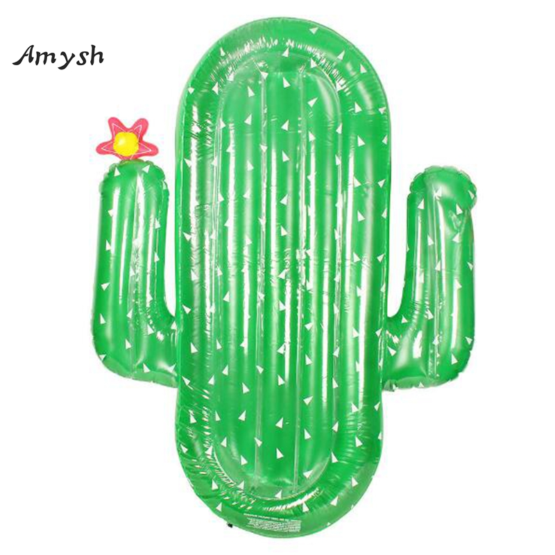 Amysh 180CM Giant Inflatable Cactus Pool Float Ride-On Swimming Ring Adults Children Piscina Water Holiday Party inflatable toys 1 6m giant crab ride on pool floats summer swimming party children fun water toy kickboard for 2 children