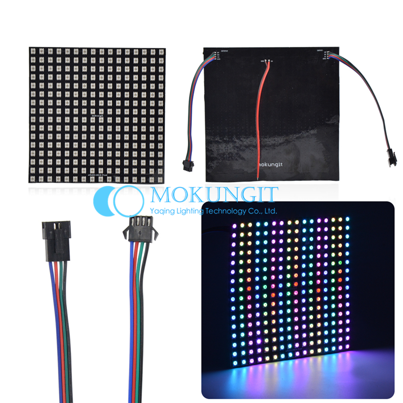 Mokungit Flexible APA102-C SK9822 Panel 8x8 8x16 8x32 16x16 5050 RGB SMD Full Color Pixel Display Panel Addressable Light 5V